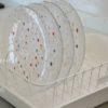 倉敷意匠計画室×野田琺瑯のキッチン白い水切りカゴ