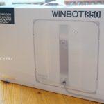 窓拭きロボット WINBOT850が使える窓のサイズと箱の中身