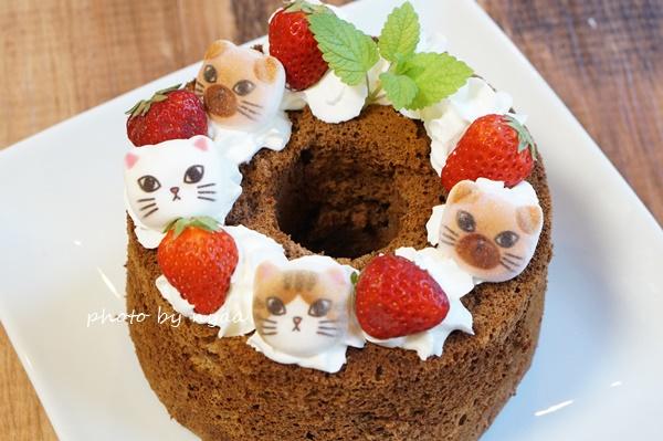 誕生日の手作りケーキをかわいくトッピング ミニ和風ニャシュマロ