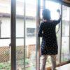 ラクラシースチームクリーナーで窓拭き掃除